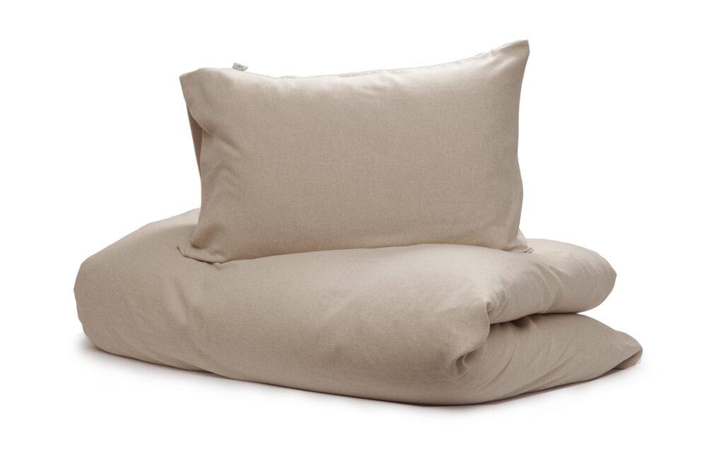 Nord sengetøy sengesett kvalitet flanell vevet myk lun norsk design ensfarget beige
