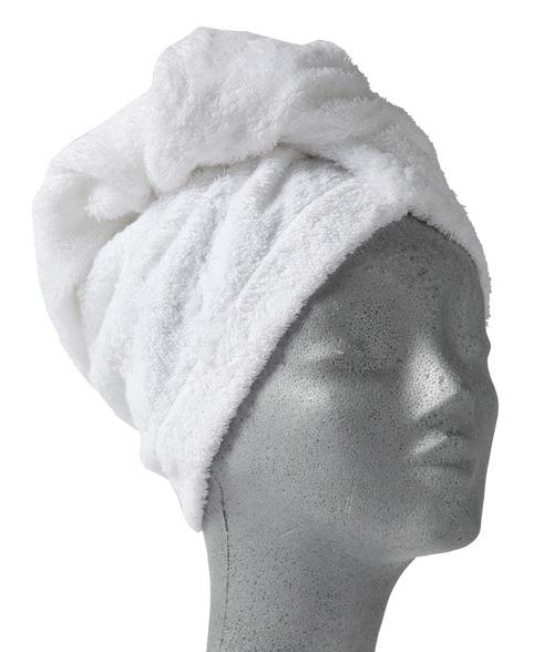 Nord ekte turban skånsom hårtørk feste med knapp i nakken