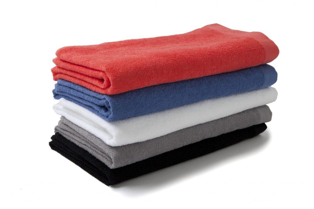 Nord håndklær kvalitet ultratynne sport fritid økologisk bomull hvit lys grå sort korall medium blå