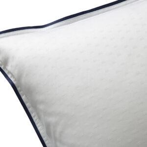 Nord sengetøy putevar kvalitet damask klassisk norsk design dots småruter hvit