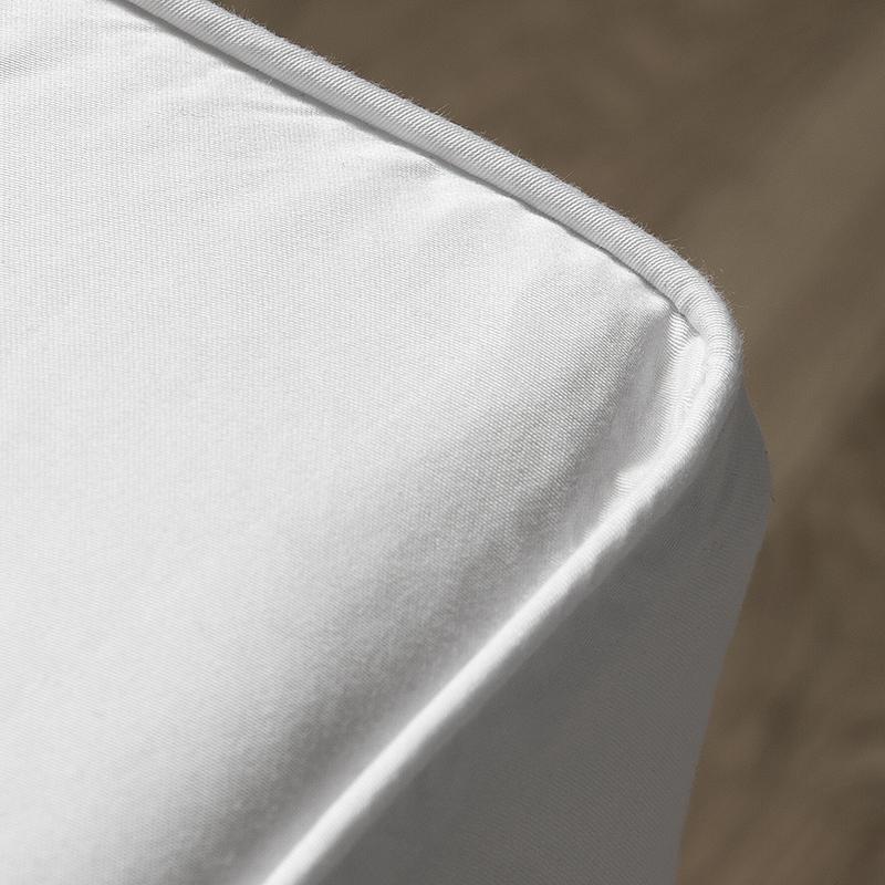 Nord Sateng sengetøy formsydd laken bise kvalitet klassisk norsk design hvit