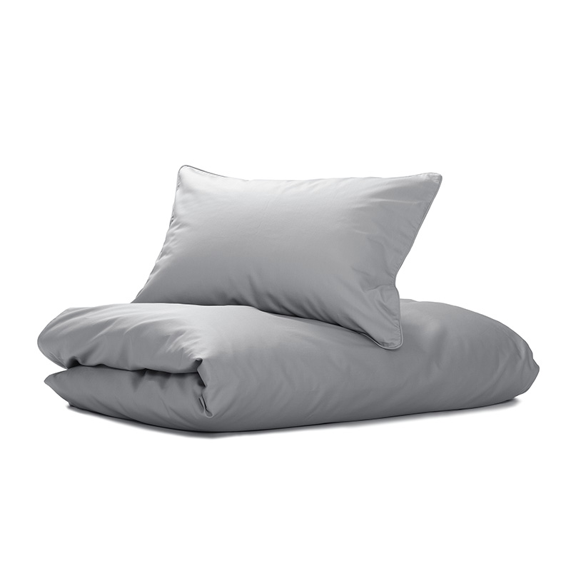 Nord Sateng sengetøy, sengesett av høy kvalitet i klassisk norsk design lys grå
