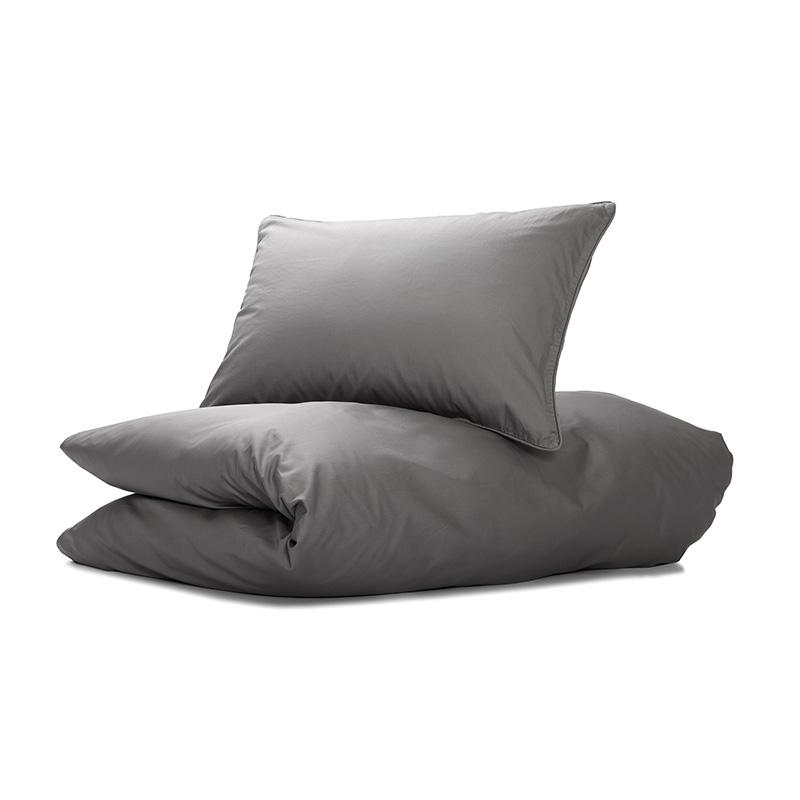Nord sengetøy sengesett kvalitet sateng klassisk norsk design stålgrå mørk grå
