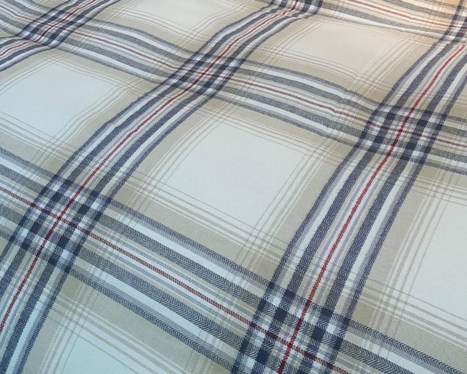 Nord Flanell sengetøy i høy kvalitet beige-grå mønster