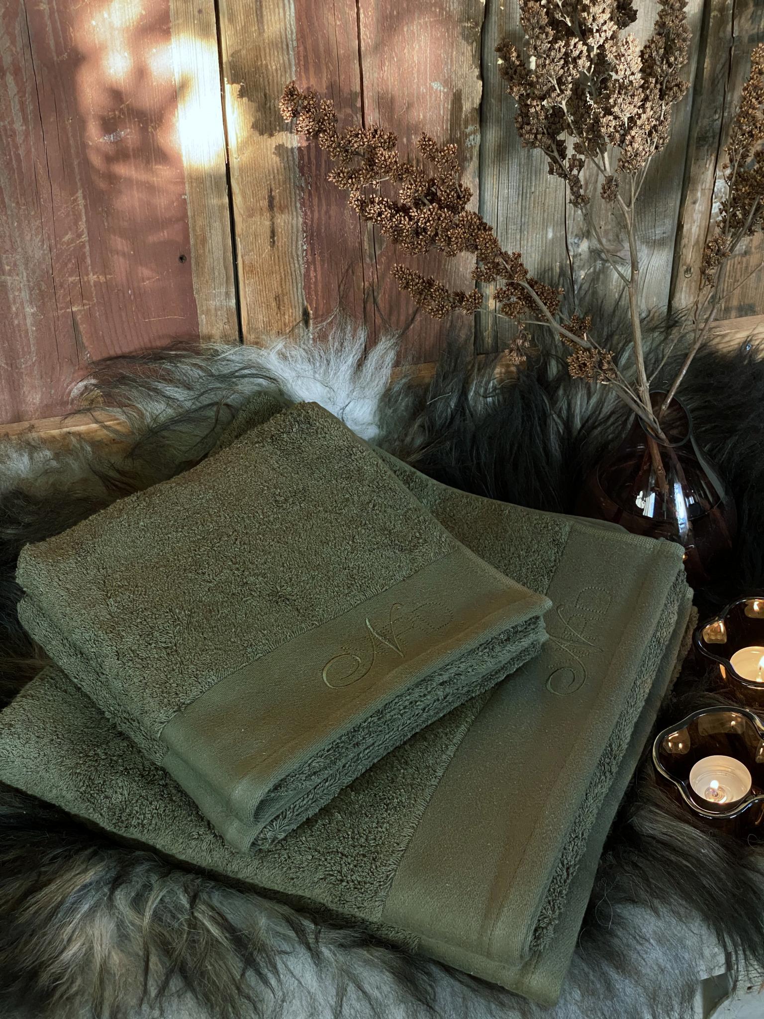 Nord Oliven håndklær miljø